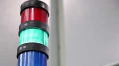 Industrial machine lights of warning working Stock Footage