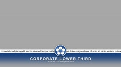 Corporate lower third Stock After Effects