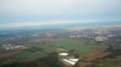 Aerial view of Berlin Brandenburg, agriculture fields, Germany Stock Footage