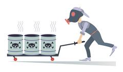 Toxic substance - stock illustration