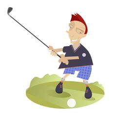 Good day for playing golf - stock illustration