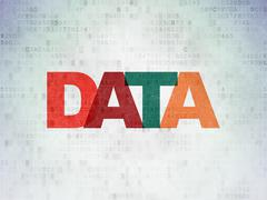 Stock Illustration of Data concept: Data on Digital Paper background
