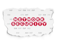 Safety concept: Network Security on Torn Paper background Piirros