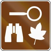 United States MUTCD guide road sign - Nature study area Stock Illustration