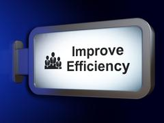 Finance concept: Improve Efficiency and Business Team on billboard background Stock Illustration
