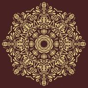 Elegant Vector Ornament in the Style of Barogue - stock illustration