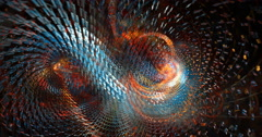 Abstract particle spiral motion background seamless looping fractal Stock Footage