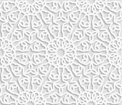 Stock Illustration of Seamless arabic geometric  pattern, east ornament, indian ornament