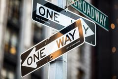 Street sign on Broadway in Manhattan, New York City Kuvituskuvat