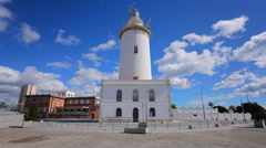 Malaga Lighthouse Stock Footage