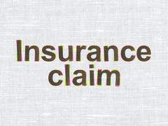 Insurance concept: Insurance Claim on fabric texture background - stock illustration