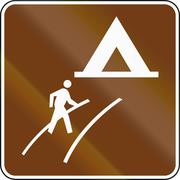 United States MUTCD guide road sign - Walk-In Camp Stock Illustration