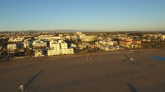 Aerial shot of Sunset beach - Los Angeles, California Arkistovideo