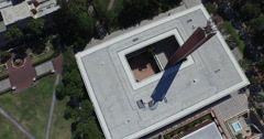 Birds-eye view of the USC campus Stock Footage