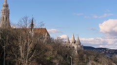 Budapest, Matthias church and the Fisherman Bastion Stock Footage