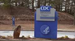 CDC Centers for Disease Control and Prevention Edward R. Roybal Campus Road Sign Stock Footage