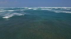 Flight over ocean. Aerial shot of ocean waves Arkistovideo