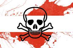 Austrian flag Stock Illustration