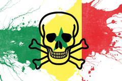 Senegal flag Stock Illustration