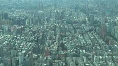Downtown Taipei city, skyline, aerial, high angle, Taiwan capital Stock Footage