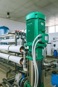 installation of industrial membrane devices - stock photo