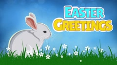 Easter Greetings Bunny Twitch Loop Stock Footage