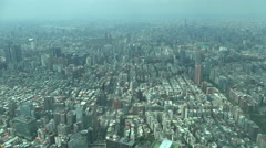 Sprawling Taipei city skyline, business, finance district, urban Taiwan Stock Footage