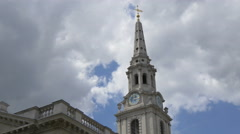 St Martin-in-the-Fields tower in London Stock Footage