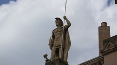 Soldier statue on The Hippodrome Casino in London Stock Footage