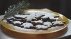 Homemade gingerbread cookie Stock Footage