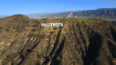Perfect aerial shot of Hollywood sign - Los Angeles Arkistovideo