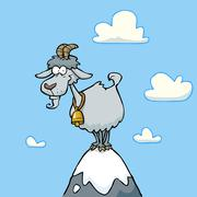 Cartoon mountain goat Piirros