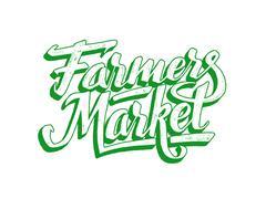 Farmers market hand lettering. Vintage poster Piirros
