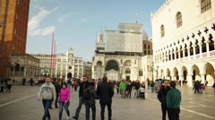 San Marco Square Venice Moving Timelapse HD - stock footage