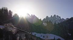 Alpes Peak Sunrise Timelapse 4K - stock footage
