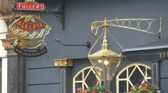 The Jack Horner Pub's sign on the wall in London - stock footage