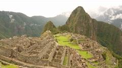 Machu Picchu in Peru Stock Footage