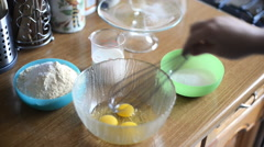 Whisking eggs Stock Footage
