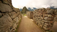 Machu Picchu for time lapse: View from the way to Wayna Picchu, from Machu Stock Footage