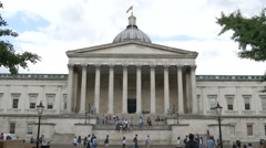 The University College London facade in London Stock Footage