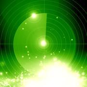 Green radar screen - stock illustration