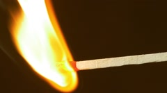 Lighting up match - no color grading - stock footage