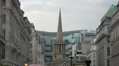 All Souls Church's pointed roof in London Stock Footage