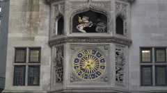 Decorated clock on the Liberty building in London Stock Footage