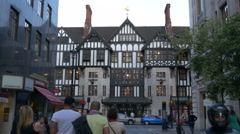 Liberty shopping mall seen from Argyll St in London Stock Footage