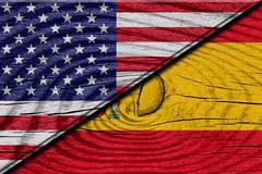 Spanish flag - stock illustration