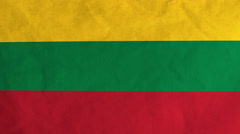 Lithuanian flag waving in the wind (full frame footage) Stock Footage