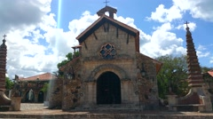 PUNTA CANA, DOMENICAN REPUBLIC JANUARY 29 Altos de chavon church, at casa de  Stock Footage