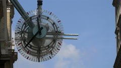 Clock on Villiers Street in London Stock Footage
