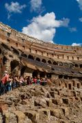 Detailed Inside Colosseum View Stock Photos